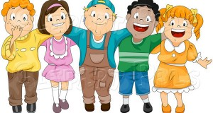 pal-vector-clipart-of-a-group-of-diverse-children-by-bnp-design-studio-16