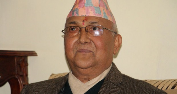 Prime Minister KP Sharma Oli at an interaction with the Reporters' Club Nepal Deusi Bhailo team, in Kathmandu, on Friday, November 13, 2015. Photo: RSS